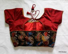 Kalamkari border blouse