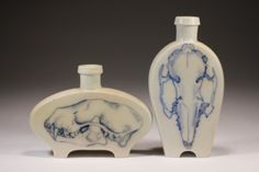 Porcelain and oxides, wood fired, Daniel Cavey