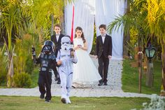 Foto por Beta e Borelli : Star Wars Wedding