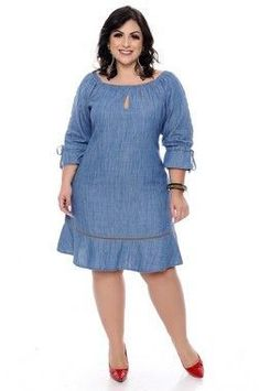 Vestido Plus Size Cleo African Attire, African Wear, African Dress, Vestidos Plus Size, Plus Size Dresses, Plus Size Outfits, African Print Fashion, African Fashion Dresses, Denim Fashion