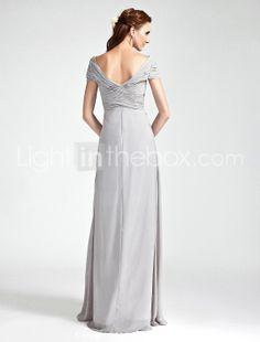 QUEENA - Vestido de Dama de honor de Gasa