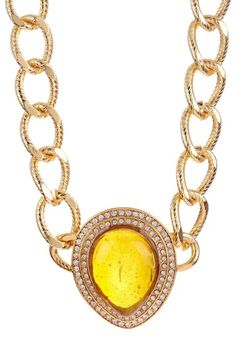 Sofia Rossi San Marco Amber Glass & Crystals Accent Statement Necklace