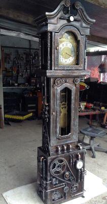 sculpture design steampunk Clock tower clockwork gears steam punk steampunk tendencies Clockpunk