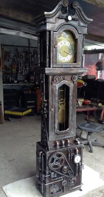 sculpture design steampunk Clock tower clockwork gears steam punk steampunk tendencies Clockpunk