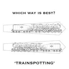 Top or bottom - which one do you prefer? #locomotive #train #steamengine #tie #necktie #design #graphics #illustration #sketch #new #gentlemen #dapper #dandy #Etsy #EtsyUK #folksy #wedding #groomsmen
