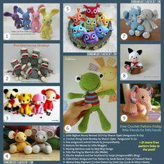 30 Free Crochet Pattern Links  Little Friends for Little Hands #amigurumi #freepattern #crochet #diy