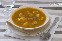 Comida compasiva: Coliflor en sopa cremosa de verduras y calabaza
