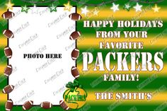 4x6 Football Fan Christmas Card