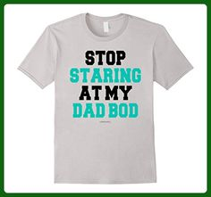 Mens Funny Fitness Dad Shirts: Stop Staring at My Dad Bod Gym Shi 2XL Silver - Relatives and family shirts (*Amazon Partner-Link)