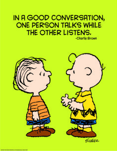 """Eureka Poster: Peanuts, Talk and Listen, 17"""" x 22"""""""