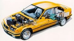 Technik der BMW 7er-Serie (E32) in einer Explosionszeichnung | Auto ...