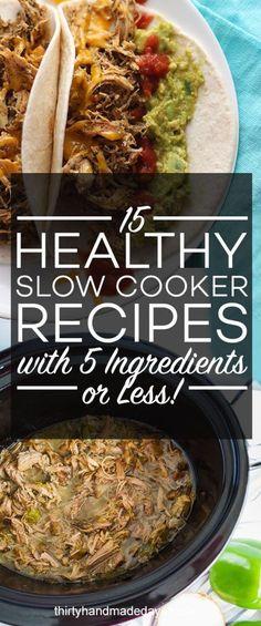 15 Gezonde Slow Cooker Recepten met 5 ingrediënten of minder
