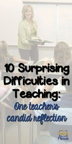 The struggle is real!  Surprising difficulties as a teacher