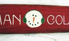 Snowman Collector Sign with Metal Snowflake   23