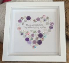 Mums Are Like Buttons Hold Everything Together - Button Picture Heart Christmas…