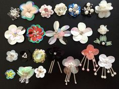 Applique sequins beads Rhinestones patch apparel 3D accessory bag shoes flower