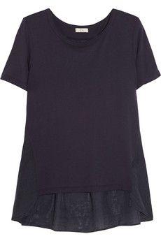CLU Cotton-blend and silk top