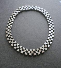 Vintage Modernist Georg Jensen Necklace Sterling 191 Rare