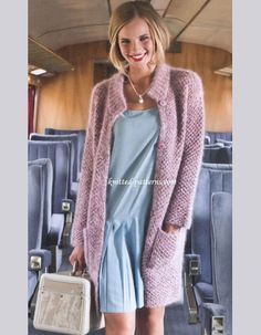 Knit your own cozy cardigan! Free knitting patterns at… Crochet Braid Pattern, Knit Crochet, Crochet Braids, Knitting Patterns Free, Free Knitting, Free Pattern, Only Cardigan, Sweater Coats, Sweaters