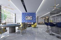 Modern Clubroom #AscendApollo #Vidazme #InteriorDesign #InteriorArchitecture #ModernInterior #LobbyDesign #MultiFamily