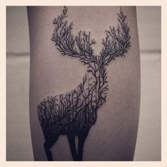 branches tattoo deer