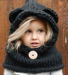 Gorros de lana con orejas de gato - Imagui