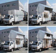 Tiny Transformer RV Camper Turns From Truck To Two Storey House : TreeHugger