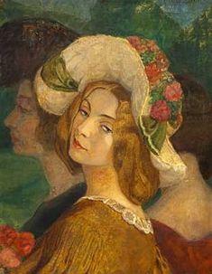 Gerda Wegener (Danish, 1885–1940) Title:     Portræt af fru Anna Larsson  Medium:     oil on canvas Size:     60 x 48 cm. (23.6 x 18.9 in.)