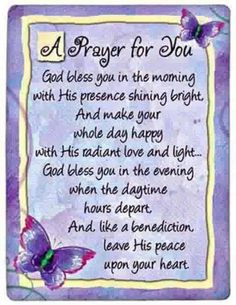 A Prayer for You
