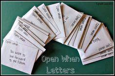 Open when .. Letter idea