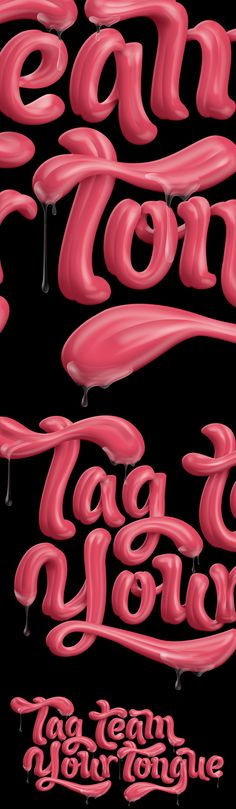 More Tongue Action by Luke Lucas, via Behance