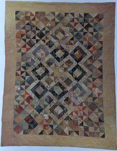 Antique Dutch quilt from the Open Air Museum in Arnhem.