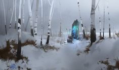 Winter's shrine, Jean-Guilhem Bargues on ArtStation at https://www.artstation.com/artwork/winter-s-shrine