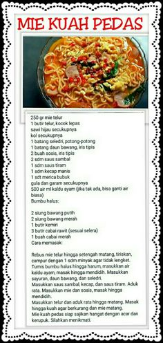 Resep mi Jawa Asian Recipes, Beef Recipes, Cooking Recipes, Healthy Recipes, Mie Goreng, Nasi Goreng, Ravioli Dinner Ideas, Mie Noodles, Healthy Pasta Bake