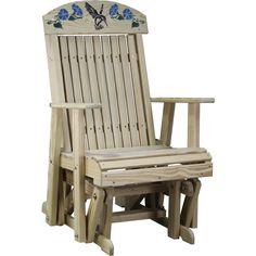 The Amish Pine Wood Hummingbird Glider Chair Is Just What You Need To  Complete Your Relaxing Amish Outdoor Furniture Collection.