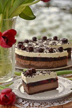 čokoláda: Cheesecake a la black forest Sweet Recipes, Cake Recipes, Dessert Recipes, Polish Christmas, Cookie Desserts, International Recipes, Cheesecakes, Sweet Tooth, Evo