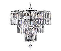 Hanglamp Milou, zilver/transparant, Ì÷ 48 cm