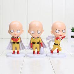 """Cute 4"""" Saitama ( One Punch Man ) Statues"""