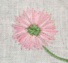 The Unbroken Thread: Tutorial - Shade of Pink - the petals look like a daisy or a mum.