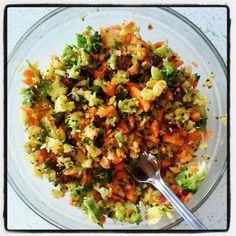 raw broc salad