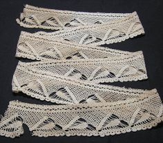 Vintage Filet Crocheted Lace Trim in Ecru by VictorianWardrobe, $10.00