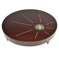Rare Pepe Mendoza Mahogany Drum Coffee Table 1958 | From a unique collection of antique and modern coffee and cocktail tables at http://www.1stdibs.com/furniture/tables/coffee-tables-cocktail-tables/