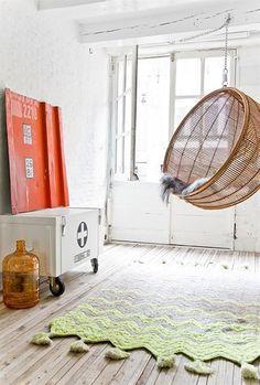Hangstoel, interieur, lifestyle blog: www.looselab.nl