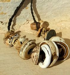 Old conus shell beads from Mauritania.