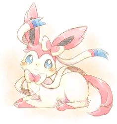 Sylveon. I really can't pick a favorite eeveelution because they're all so cute!