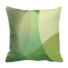 Abstract Greens Pattern Pillow Throw Pillow. #pillows #decor #home #zazzle