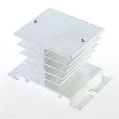 1 unid Monofásico Relé de Estado Sólido SSR Disipación del Disipador de Calor de Aluminio Del Radiador Nuevo