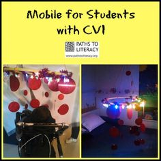 This mobile is designed to help children with CVI to increase visual attention and exploration.