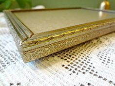 Gold Vintage Photo frame 5 x 7 picture frame by EKRdoodleVintage