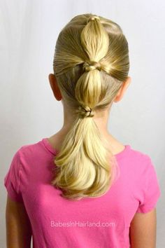Knotty Bubble Ponytail from BabesInHairland.com #hair #knots #ponytails #hairstyles #video